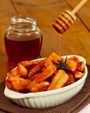 Panais glacés par miel photos libres de droits