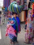 Panajachel kvinna Arkivfoton