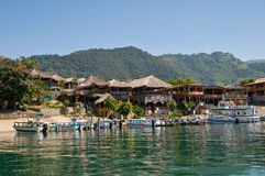 Panajachel - lago atitlan imagen de archivo libre de regalías