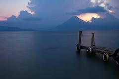 Panajachel View. The view of Lake Atitlan, Guatemala from Panajachel Stock Photo