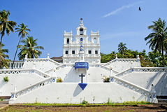 panaji goa的印度教会 免版税库存照片