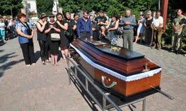 Panakhyda voor de dode jongere sergeant Igor Shtunik _2 Royalty-vrije Stock Foto's