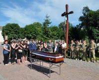 Panakhyda voor de dode jongere sergeant Igor Shtunik Stock Afbeelding