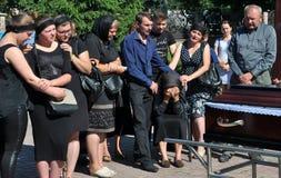 Panakhyda voor de dode jongere sergeant Igor Shtunik _6 Stock Afbeeldingen