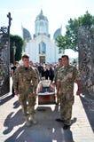 Panakhyda voor de dode jongere sergeant Igor Shtunik _9 Stock Afbeelding