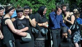 Panakhyda voor de dode jongere sergeant Igor Shtunik _5 Stock Foto's