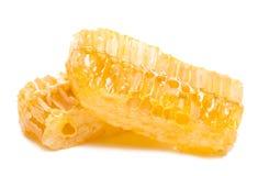 Panal de la abeja con la miel Imagen de archivo libre de regalías