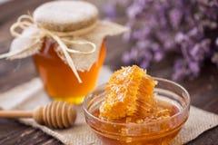 Panal del dulce del producto de la abeja Fotografía de archivo