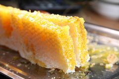 Panal, miel Productos de la apicultura Fotografía de archivo libre de regalías