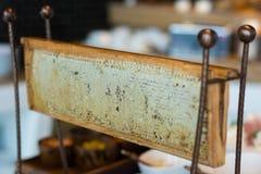 Panal para la abeja de la miel Fotografía de archivo libre de regalías