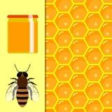 Panal y goteos dulces de la miel productos y apicultura del colmenar Foto de archivo