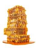 Panales dulces con la miel Fotos de archivo