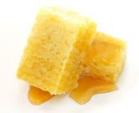 Panales sabrosos con la miel Foto de archivo libre de regalías