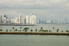 Panamá con la vista della strada soprelevata Immagine Stock
