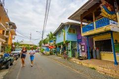 PANAMÁ, PANAMÁ - 16 DE ABRIL DE 2015: Opinião da rua de Fotografia de Stock Royalty Free