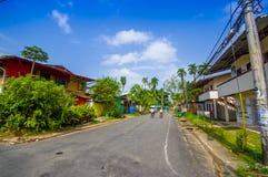 PANAMÁ, PANAMÁ - 16 DE ABRIL DE 2015: Opinião da rua de Imagem de Stock Royalty Free