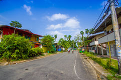 PANAMÁ, PANAMÁ - 16 DE ABRIL DE 2015: Opinión de la calle de Imagen de archivo libre de regalías