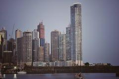 Panamá Stad in de middag royalty-vrije stock afbeelding