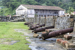 Panamà, old Fort San Jerónimo in Portobelo, Colón province Stock Photography