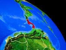 Panama auf Planet Erde lizenzfreie abbildung
