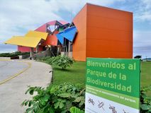 Panama biodiversity museum. An esternal view of the biodiversity museum in Panama royalty free stock photography