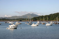 Panama Canal. Near Via Panamericana and boat marina stock photography