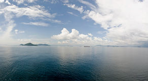 Panama canal entrance scenic Royalty Free Stock Images