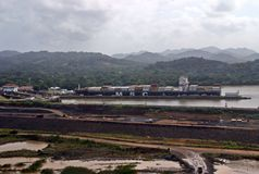 Panama canal extension  IX Royalty Free Stock Images