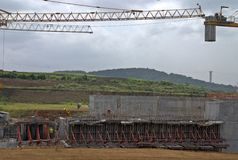 Panama canal extension  XXII Stock Images
