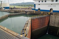 Panama Canal - Gatun Locks Royalty Free Stock Image