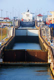 Panama canal locks Stock Images