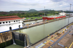 Panama Canal - Miraflores Locks Royalty Free Stock Photography