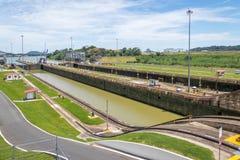 Panama Canal at Miraflores Locks - Panama City, Panama Royalty Free Stock Image
