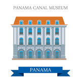 Panama Canal Museum in Panama vector flat attraction landmarks Stock Photo