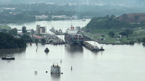 Panama Canal, Panama - November 2013 stock footage