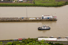 Panama Canal - Pedro Miguel Lock Royalty Free Stock Image