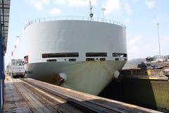 Panama Canal Ship Royalty Free Stock Photo