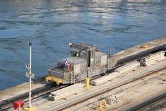 Panama Canal Mule Royalty Free Stock Photo