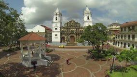 Panama Cathedral, San Felipe, Panama City, Panama stock video footage