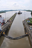 Panama Channel Lock Royalty Free Stock Photography