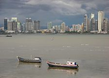 Panama City. The skyline of Panama City downtown on a clody day royalty free stock photography