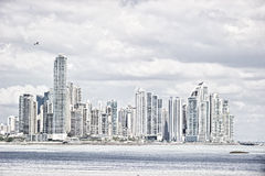 Panama city. Day shot of business district in Panama city Stock Images