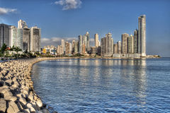 Panama City. Skyline and the Panama Bay Royalty Free Stock Image