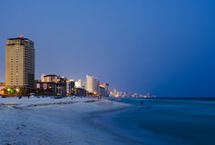 Panama City Beach cityscape at night Royalty Free Stock Image