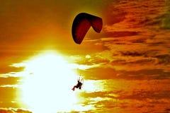 Panama City Beach Florida para sail sunset picturesque stock images