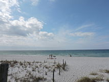 Panama City Beach ocean view. With clouds Stock Photos