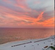Panama City beach sunset royalty free stock images