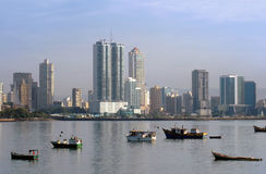 Panama city buildings coastline Royalty Free Stock Image