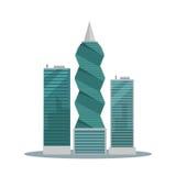 Panama-City Buildings Flat Vector Illustration Royalty Free Stock Image