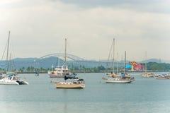Panama City, Carreterra Panamericana and the Bridge of the Amer Royalty Free Stock Images